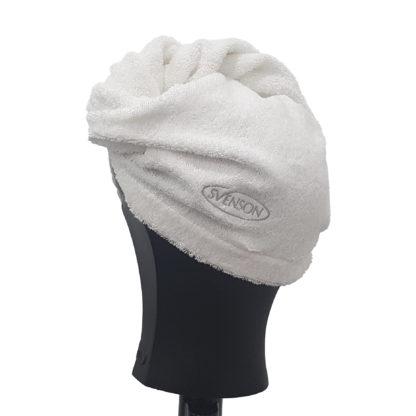 Toalla turbante para quitar humedad del pelo
